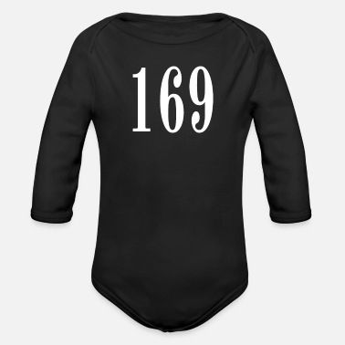 Number 169 - Organic Long-Sleeved Baby Bodysuit