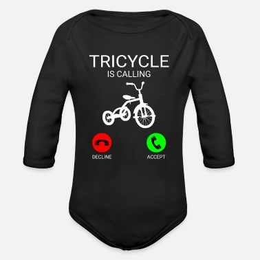 Tricycle Tricycle is calling cool tricycle tshirt - Organic Long-Sleeved Baby Bodysuit