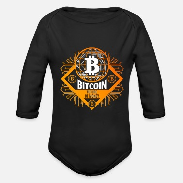 Dollar Bitcoin BTC - Organic Long-Sleeved Baby Bodysuit
