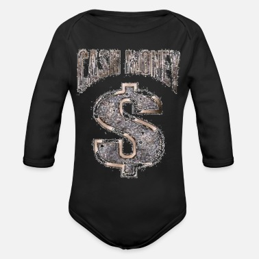 Money Cash Money - Organic Long-Sleeved Baby Bodysuit