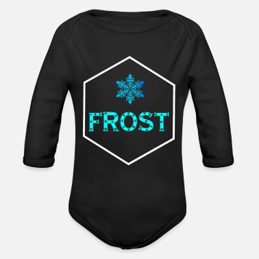 Frost frost - Organic Long-Sleeved Baby Bodysuit