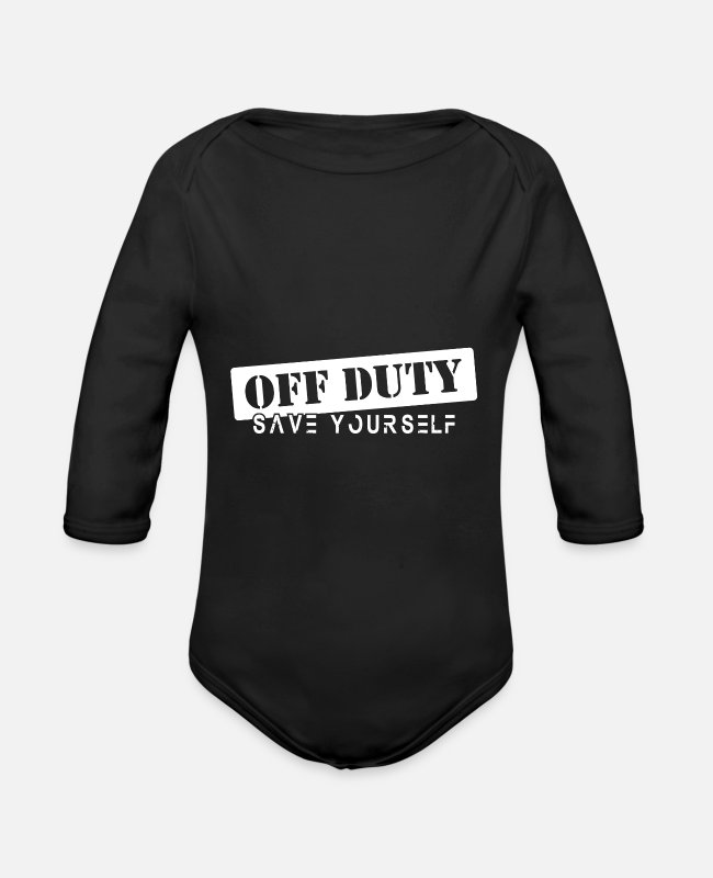 Ambulance Driver Baby One Pieces - EMT ambulance present idea - Organic Long-Sleeved Baby Bodysuit black