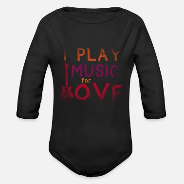 Guitar Player guitar player guitar player guitar player guitaris - Organic Long-Sleeved Baby Bodysuit