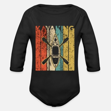Kayak Kayaking Kayak Vintage kayak kayaking - Organic Long-Sleeved Baby Bodysuit