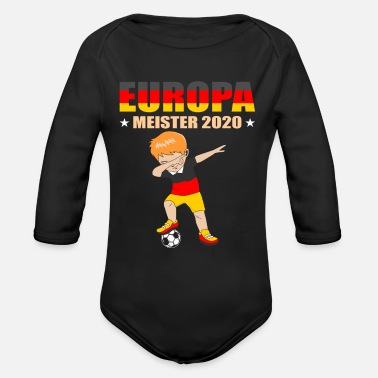 European Champion European Championship 2020 Dab Football European C - Organic Long-Sleeved Baby Bodysuit