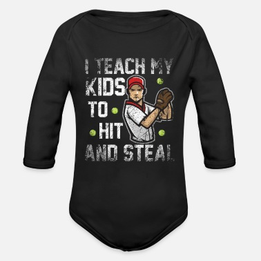Coach Baseball Coach Coach - Organic Long-Sleeved Baby Bodysuit
