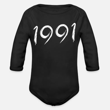 Date Of Birth Year of birth 1991 Date of birth - Organic Long-Sleeved Baby Bodysuit
