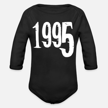 Date Of Birth Year of birth 1995 Date of birth - Organic Long-Sleeved Baby Bodysuit