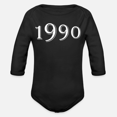 Date Of Birth Year of birth 1990 Date of birth - Organic Long-Sleeved Baby Bodysuit