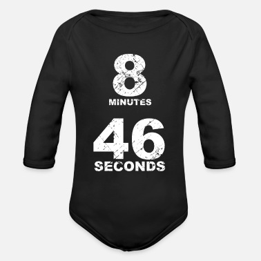 8 Seconds 8 minutes 46 seconds 8 46 - Organic Long-Sleeved Baby Bodysuit
