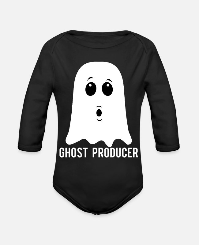 Producers Baby One Pieces - GHOST PRODUCER - Organic Long-Sleeved Baby Bodysuit black