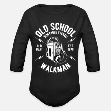 Old Old School Walkman - Organic Long-Sleeved Baby Bodysuit