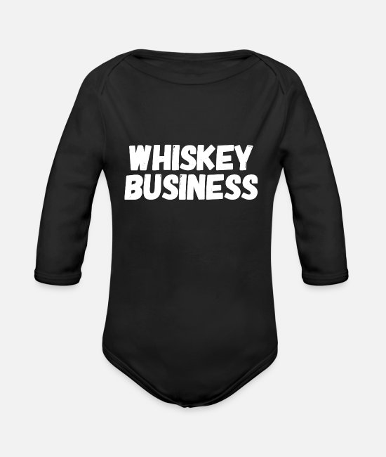 Whiskey Business Baby One Pieces - Whiskey business - Organic Long-Sleeved Baby Bodysuit black