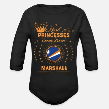 Island love princesses come from MARSHALL ISLANDS - Organic Long-Sleeved Baby Bodysuit