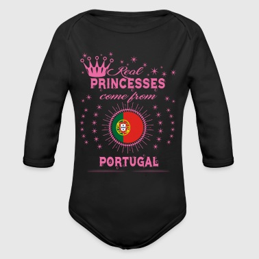queen real princesses princess from PORTUGAL PORTU - Organic Long Sleeve Baby Bodysuit