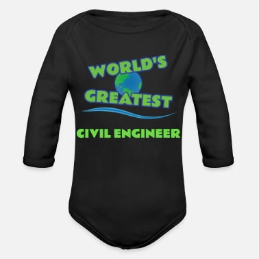 Civil CIVIL ENGINEER - Organic Long Sleeve Baby Bodysuit