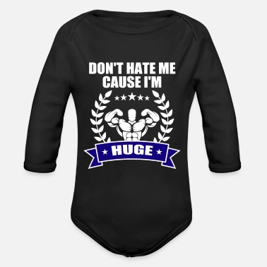Funny Gym Funny Gym Shirt For Brother/Dad. - Organic Long-Sleeved Baby Bodysuit