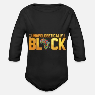 Africa Unapologetically Black Africa - Organic Long-Sleeved Baby Bodysuit