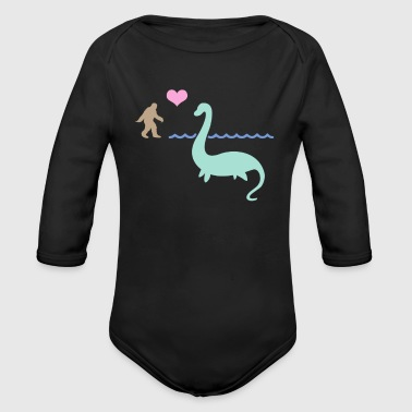 Bigfoot And The Loch Ness Monster - Organic Long Sleeve Baby Bodysuit