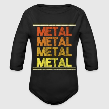 Metal Music Shirt - Gift - Organic Long Sleeve Baby Bodysuit
