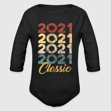 Born in 2021 Gift - Shirt - Classic - Organic Long Sleeve Baby Bodysuit