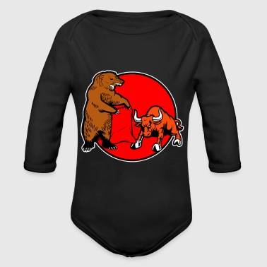 Bullfighting Bear - Organic Long Sleeve Baby Bodysuit