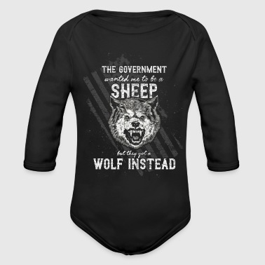 The government wanted a sheep - Organic Long Sleeve Baby Bodysuit