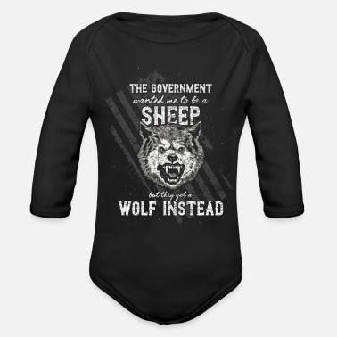 Government The government wanted a sheep - Organic Long-Sleeved Baby Bodysuit