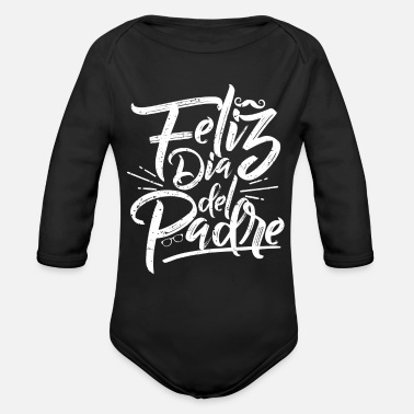 B Day Fathers Day Spanish B - Organic Long Sleeve Baby Bodysuit