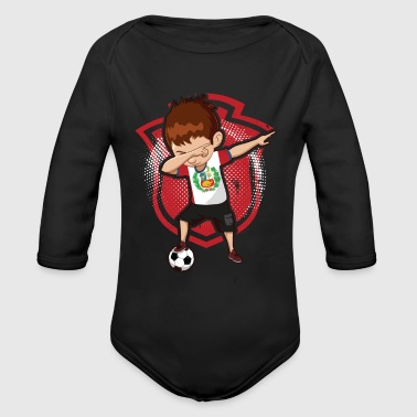 Football Soccer Dab Peru - Organic Long Sleeve Baby Bodysuit