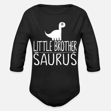Brother Little brother Saurus - Organic Long-Sleeved Baby Bodysuit