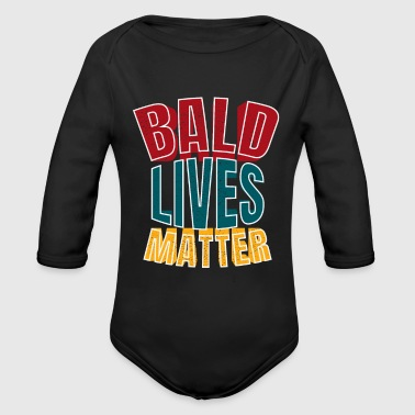 Funny Bald Men T-Shirt Gift Fatherday Birthday - Organic Long Sleeve Baby Bodysuit