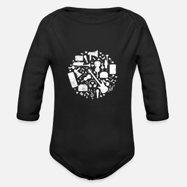 Musical Instrument Musical Instruments - Organic Long Sleeve Baby Bodysuit