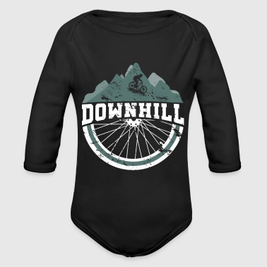 Downhill Bicycle Slopestyle Jump Bike - Organic Long Sleeve Baby Bodysuit