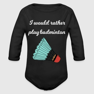Badminton - Organic Long Sleeve Baby Bodysuit