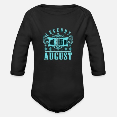 Date Of Birth August - Organic Long-Sleeved Baby Bodysuit