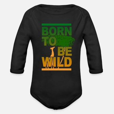 Safari Safari - Organic Long Sleeve Baby Bodysuit
