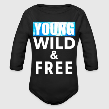 Young Wild Free 17 - Organic Long Sleeve Baby Bodysuit