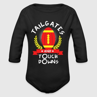 Funny Football Sayings American Football Funny Saying Sports Gift Idea - Organic Long Sleeve Baby Bodysuit