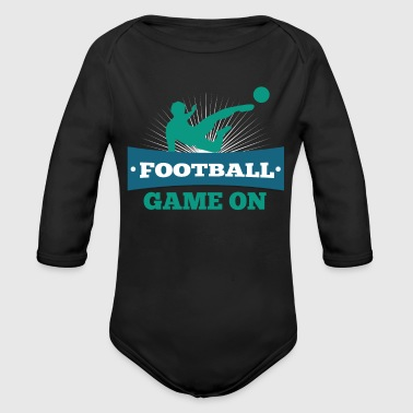 Funny Football Sayings Soccer Football Funny Sayings Sports Gift Idea - Organic Long Sleeve Baby Bodysuit
