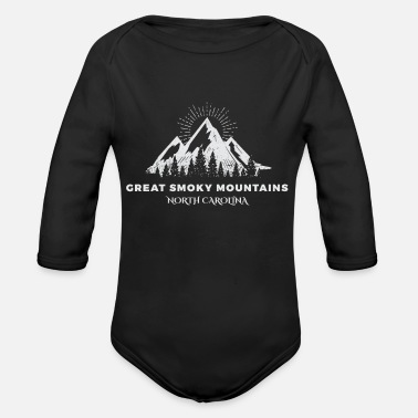 Mountains Great Smoky Mountains National Park - Organic Long-Sleeved Baby Bodysuit