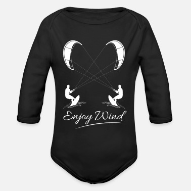 Wind Surf Wind Surfing - Organic Long Sleeve Baby Bodysuit