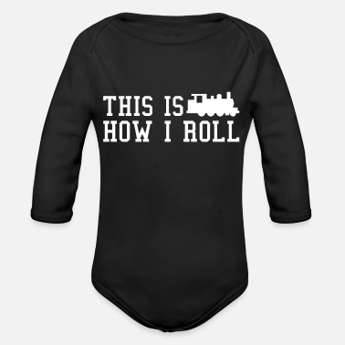 Train Driver train driver - Organic Long Sleeve Baby Bodysuit