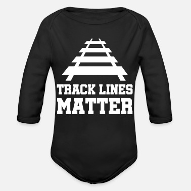 Rails rails - Organic Long-Sleeved Baby Bodysuit