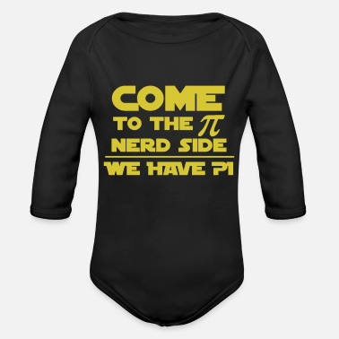Geek Nerd Geek - Organic Long-Sleeved Baby Bodysuit