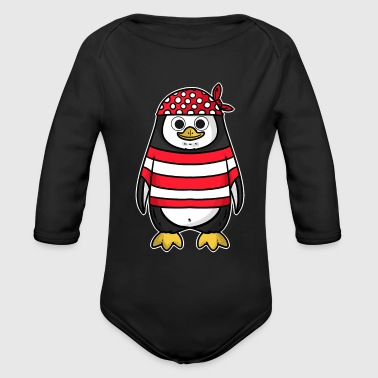 Pirate, pirate, pirate ship - Organic Long Sleeve Baby Bodysuit