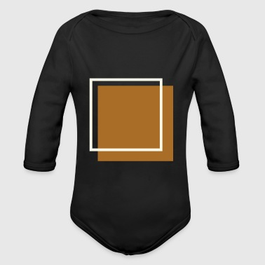 Square Squares - Organic Long Sleeve Baby Bodysuit