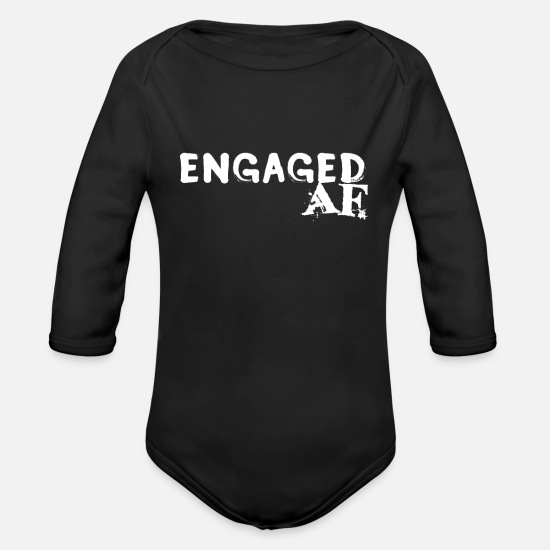 Engagement Baby Clothing - Engaged - Organic Long-Sleeved Baby Bodysuit black