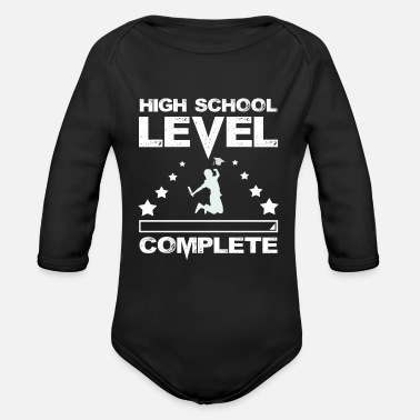 High School Graduate Game Player High School Graduate Gamer Graduation - Organic Long Sleeve Baby Bodysuit