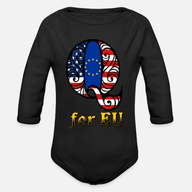 Eu Q for EU - Organic Long Sleeve Baby Bodysuit